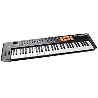 M-Audio Oxygen 61 IV | 61-Key USB/MIDI Keyboard with Eight Trigger Pads, Studio Production/Performance Ready Controls Plus VIP 3 and Software Package Included
