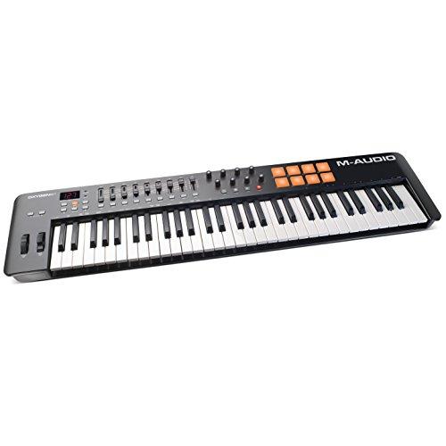 M-Audio Oxygen 61 IV USB MIDI Keyboard Controller mit mit anschlagdynamische Tasten, VIP 3.0, Ableton Live Lite, SONiVOX Twist, Xpand2 Inkl.