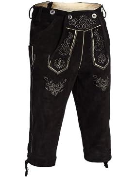 Gaudi-Leathers, Herren Trachten Lederhose Kniebundhose mit Träger in versch. Farben