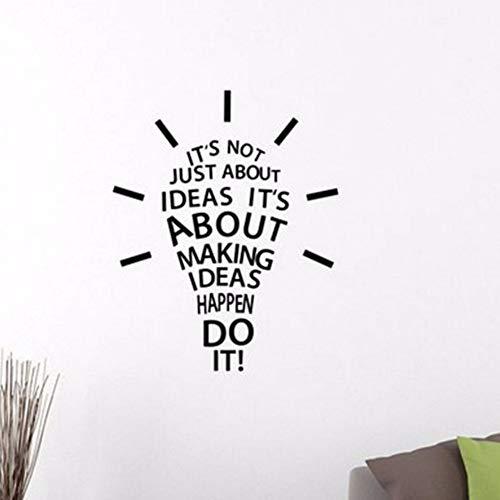 Machen Passieren Tun Sie Es Inspirierend Zitat Wandtattoo Glühbirne Arbeit Erfolg Motivation Vinyl Aufkleber Art Home Room Office ()
