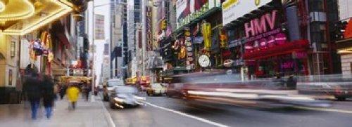 Panoramic Images - Traffic on the street 42nd Street Manhattan New York City New York State USA Photo Print (45,72 x 17,78 cm)