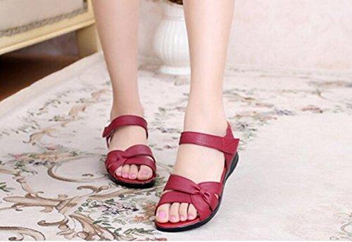 Zormey Plus Size (32-43) Wohnung Sommer Sandalen Für Frauen 2016 Mutter Krankenschwester Aus Echtem Leder Schuhe Schuhe Flache Mutterschaft Frauen Schuhe Sandale 3.5