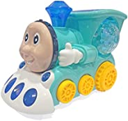 Popsugar - THLD-147AG Musical Bump and Go Smiley Train with Flashing Lights, Green
