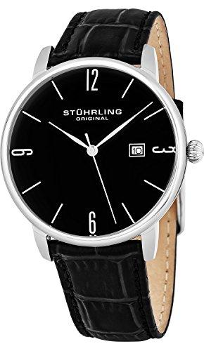 Stuhrling Original Ascot Herren-Armbanduhr Analog Quarz Leder - 997L.02