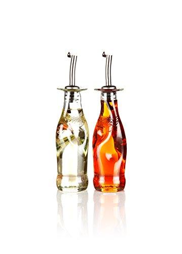 Recyceltem Öl & Essig Ölspender-Set, Set 2, Hand Made in Devon Von Glas Reform aus aus recycelten Flaschen, umweltfreundlich Geschenk. Wir sind den Schöpfern.