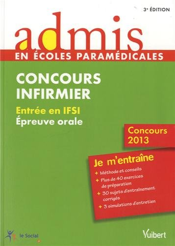 Concours Infirmier - Épreuve orale - Admis - Je m'entraîne - Concours 2013