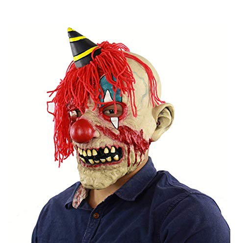 Latex Maske Für Halloween, Clown Maske, Horror Plüsch Bloody Clown Latex Maske, Streich Maske Gesicht Scary Halloween Kostüm Party, Bar, Maskerade