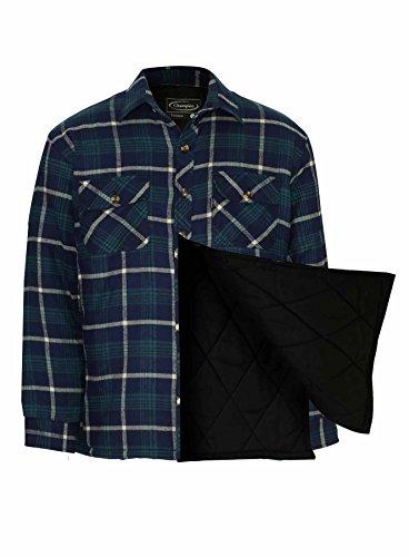 Champion Fontwell oder Totnes Gepolstertes Winterhemd Gesteppte Fütterung für Herren Totnes Blau