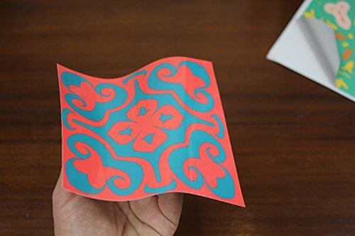24 Color de la mezcla PEGATINAS lisas para pegar sobre azulejos cuadrados de 15cm en cocina, baños - resistentes al agua y aceite, Azulejos decorativos adhesivos de TILE STYLE DECALS