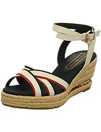 82da7f605 Tommy Hilfiger Women s Iconic Elba Corporate Ribbon Platform Sandals