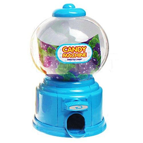 Gosear Mini Máquina Expendedora de Habas de Jalea Chicles Gomitas Azúcar Caramelo de Gumball / Dispensador de Snack para Novedad Fiesta Cumpleaños Regalo Juguetes para Niños,Azul