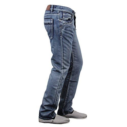 Uomo Jeans Denim Stile Militare Peviani Pantaloni Urban Gamba Dritta Pantaloni Pantaloni DENIM - NB124