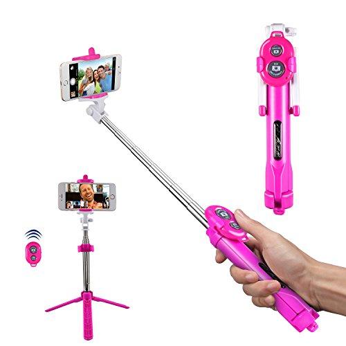 Alfort Perche Selfie, Bâton de Selfie Bluetooth Trépied Monopode