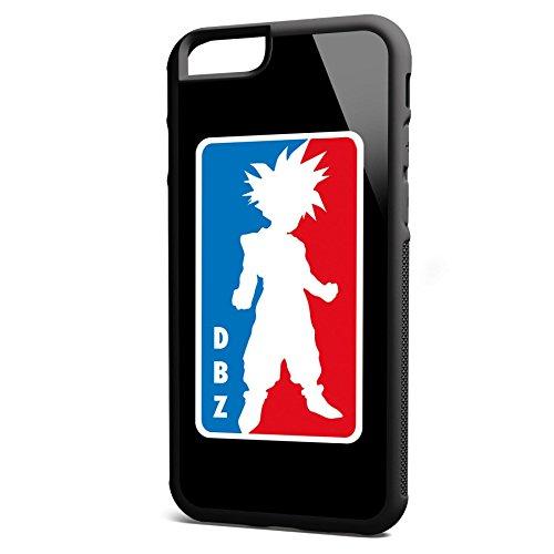 Smartcover Case DBZ z.B. für Iphone 5 / 5S, Iphone 6 / 6S, Samsung S6 und S6 EDGE mit griffigem Gummirand und coolem Print, Smartphone Hülle:Iphone 6 / 6S schwarz Iphone 6 / 6S schwarz