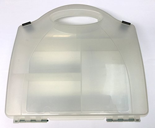 TRASPARENTE PRIMO AIUTO KIT SCATOLA - medie dimensioni - 3 compartimenti, Trasparente (vuota)