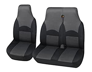 mr e saver black grey polyester ohio van seat covers 2 1 mre21ohigry275 car. Black Bedroom Furniture Sets. Home Design Ideas