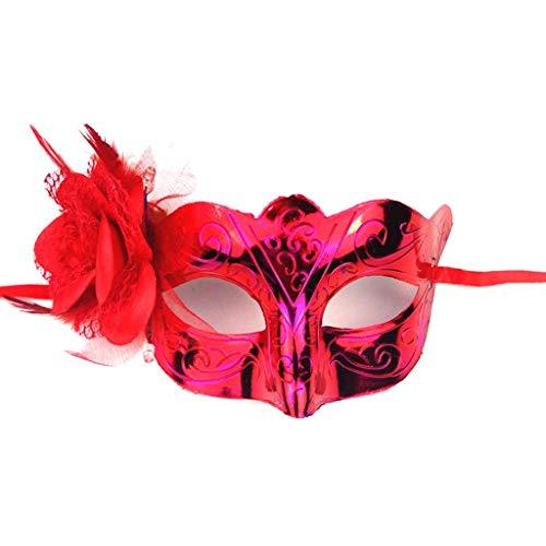 shaoyanger Damen Maske, leuchtende Rosen, für Abschlussball,