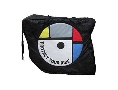 Nola Sang Nylon-Fahrrad-Beutel-Reise-Straßen-Gebirgsfahrrad-Fördermaschine-Paket-Zyklus-Transport-Kasten-Art- und Weiseaufenthaltsraum-faltende Auto-Paket Black