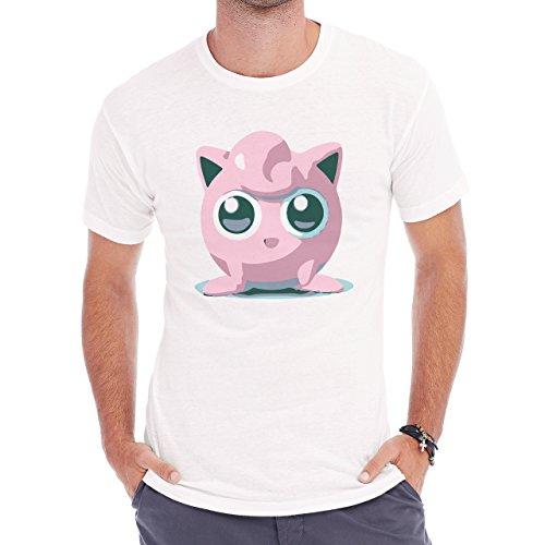 Pokemon Jigglypuff Wigglytuff Normal Paint Brush Edition Herren T-Shirt Weiß