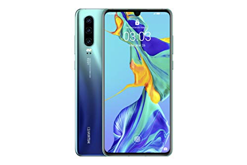 Huawei P30 - Smartphone de 6.1' (Kirin 980 Octa-Core de 2.6GHz, RAM de 6 GB, Memoria interna de 128 GB, cámara de 40 MP, Android) Color Aurora [Versión española]