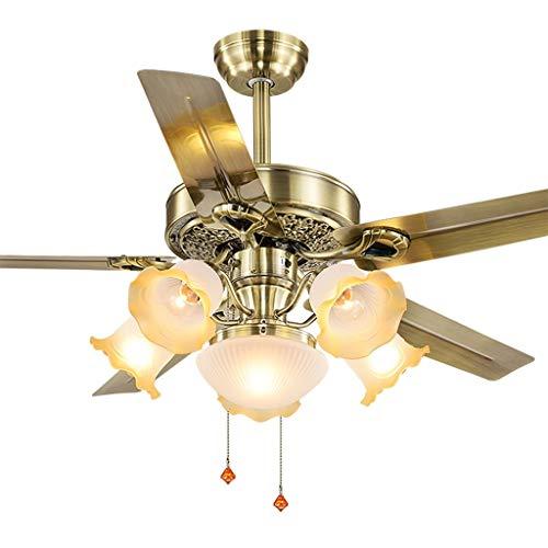 Kronleuchter Deckenventilator-Licht Ventilator-Licht Wand-Deckenventilator-Licht Esszimmer-Eisen-Blatt-Deckenventilator-Licht Chinesischer Antiker Elektrischer Ventilator-Leuchter LED-Ventilator-Leuch - Blatt Esszimmer-möbel