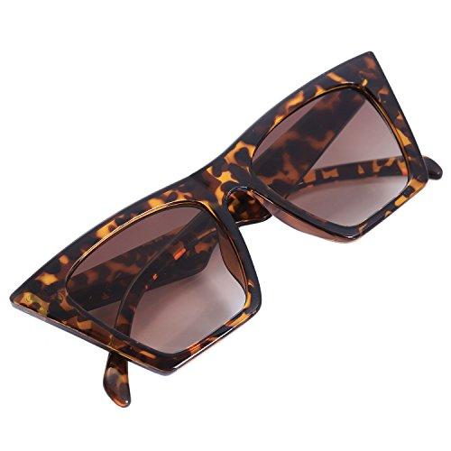 Semoic Fashion Katze Augen Sonnenbrille Frauen Maenner Luxus Sonnenbrille Allmaehliche Verfaerbung Brillen S17047 Bernstein