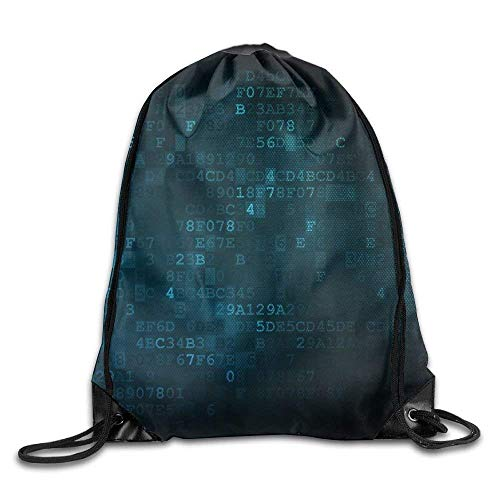 hyg03j4 kjhglp Programming Concept Database with Cloud On Digital Background Drawstring Pack Beam Mouth Gym Sack Shoulder Bags for Men & Women Beam Mouth Package A3170