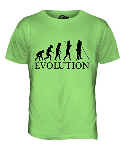 CandyMix Agrimensura Evoluzione Umana T-Shirt da Uomo Maglietta Verde Lime