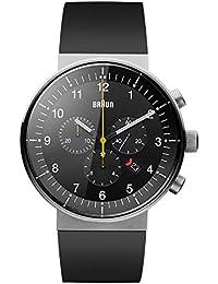 Braun BN0095BKSLBKG - Reloj analógico de cuarzo unisex, correa de caucho, color negro
