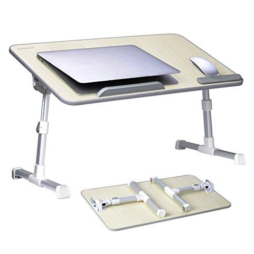 GROßFORMAT Verstellbarer Laptoptisch Bett Tablett, Tragbarer Laptop Ständer , Betttisch Frühstück, Notebook Ständer Sofa Tisch (Beige) - Avantree Minitable L [2 Jahre Garantie]