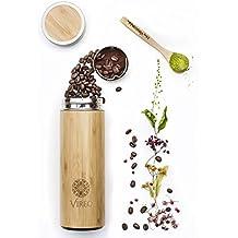 In acciaio inox, bambù tè, caffè infusore