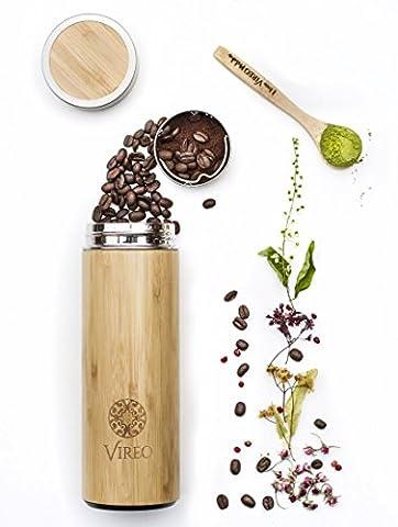 Teeflasche aus Rostfreiem Edelstahl Teebereiter Tee-Ei: 400ml