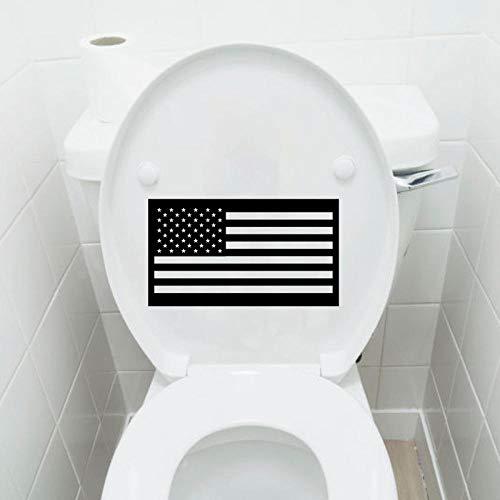Amerikanische Flagge USA Mode Vinyl Wohnkultur Wc Wandaufkleber Abziehbilder 6WS0262 @ Schwarz