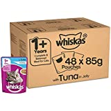 [Sponsored]Whiskas Adult Wet Cat Food, Tuna In Jelly Super Saver Pack - 85 G (4.08 Kg, 48 Pouches)