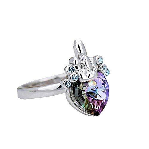 Collier en Cristal Pour Femme Ocean Star Collier en Cristal Pour Homme (1 collier, 1 boucle d'oreille, 1 bracelet, 1bague) pink
