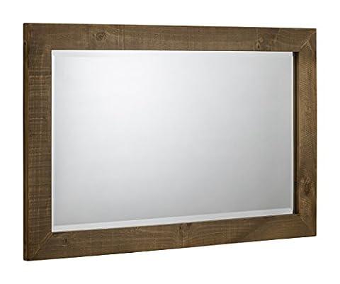 Julian Bowen Aspen sägerau Wandspiegel, Holz, wieder (Casa Occasional Table Set)