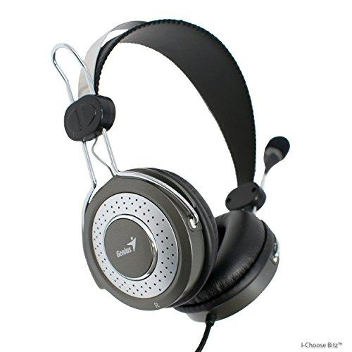 Genius HS-04SU Casque de Luxe avec Microphone à Annulation de Bruit pour PC, Ordinateur Portable, Skype / iCHOOSE