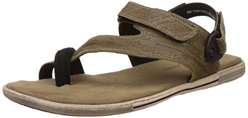 Woodland Men's Khaki Leather Sandals and Floaters - 7 UK/India (41 EU)  available at amazon for Rs.1636