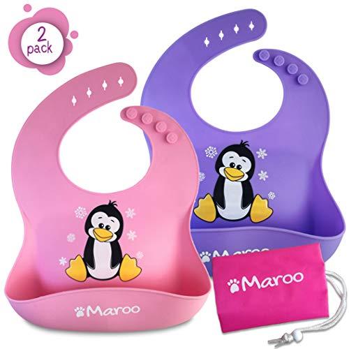 Baberos silicona impermeables alta calidad bebés