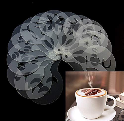 Cappuccino-Kaffeeschablonen, Schablonen, 16 Stück, Barista, Haushalt, Latte,