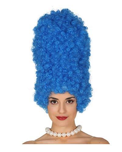 Comic Perücke Marge blau als lustiges Kostümzubehör für Karneval & Mottopartys (Marge Simpson Kostüm Haar)