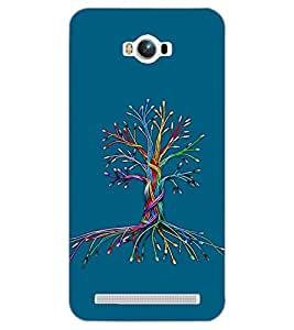 PrintDhaba COLORFUL TREE D-6703 Back Case Cover for ASUS ZENFONE MAX ZC550KL (2016) (Multi-Coloured)