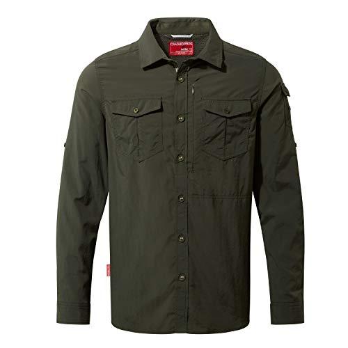 Craghoppers NosiLife Adventure II Long Sleeved Shirt, XXXL, Dark Khaki 2AT -