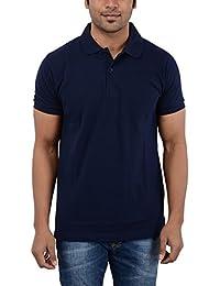 EASY 2 WEAR Men's Collar Navy Blue T-Shirt Sizes (S,M,L,XL,XXL,XXXL,XXXXL) Plus Size AVAI.