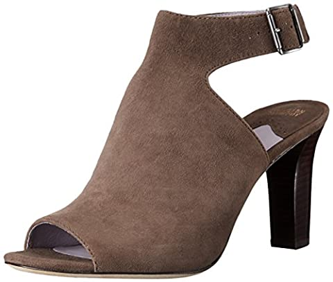 Johnston & Murphy Women's Brianna Heeled Sandal, Charcoal, 6 M US