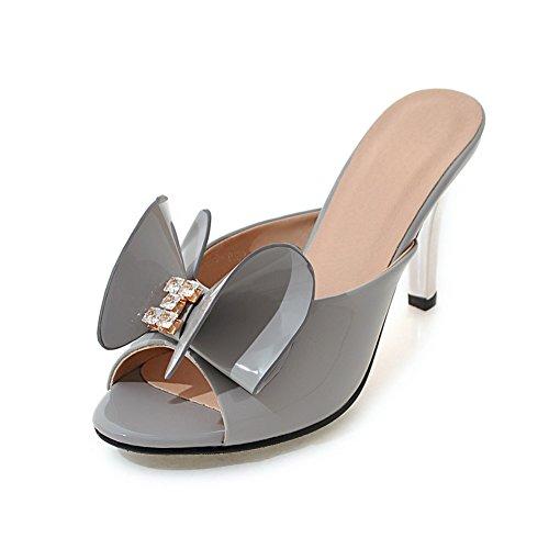 Versione coreana delle pantofole in estate/all'aperto pantofole/Strass fiocco tacco alto sandali D