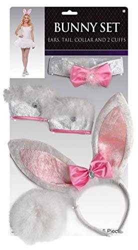 amscan 840633-55 Accessoire-Set Bunny, - Bunny Kostüm Accessoires