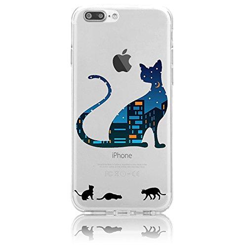 iPhone 7 Plus Silikon Hülle,iPhone 7 Plus Hülle,Sunroyal TPU Case Schutzhülle Silikon Crystal Kirstall Clear Case Durchsichtig,Toilette Malerei Muster Transparent Weichem Silikon Schutzhülle Handy Gür Pattern 15