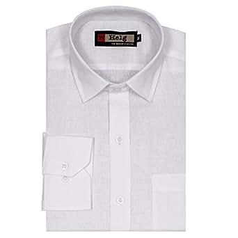Helg Mens Formal Linen White Comfort Fit Shirt