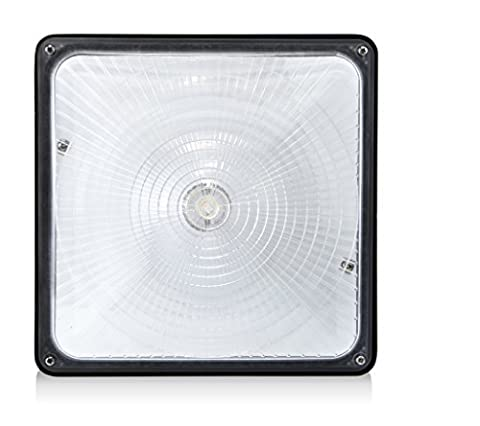 Hyperikon 45W LED Fitting - Crystal White Glow (5000K) - CRI82 - 24x24 cm - Indoor & Outdoor Commercial Canopy